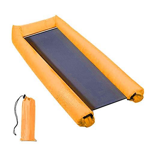 Teechaa 2019 Upgraded Inflatable Lounger Wasser Pool Hängematte Aufblasbare Luftmatratze Air Mattress Inflatable Float for Adults and Children Water Fun Beach Parties (Orange)
