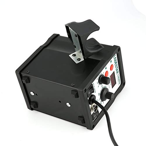Ballylelly-2in1 Digitalanzeige SMD-Heißluft-Überarbeitungsstation und Lötkolben-Heißluftpistole Heißluftpistole Entlötwerkzeug von