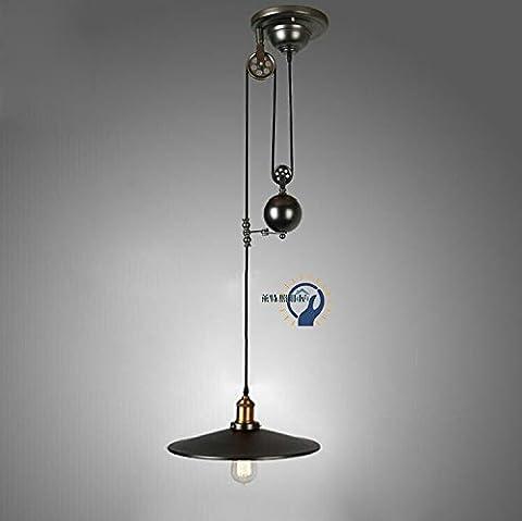 Retro Pulley Heben Anhänger Lihgt Classic Eisen Nostalgische Persönlichkeit Kreative Industrie Stil Esszimmer Esstisch Hängeleuchte E27 Decke Aufhängung Beleuchtung