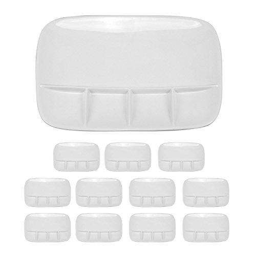 Fondueteller Porzellanteller Teller 6er-Set oder 12er-Set Fondue Raclette (12er-Set)