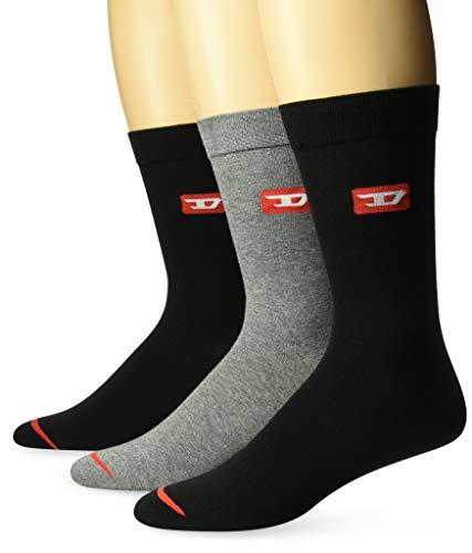 Diesel Herren Skm-ray-threepack Socken, Mehrfarbig (Dark Grey Mélange/Dress Blues/Black E4125-0Tavj), 43/46 (Herstellergröße: Large) (erPack 3)