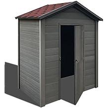 vidaXL Caseta de Jardín WPC Gris 188x188x264 cm Cobertizo de Almacenamiento