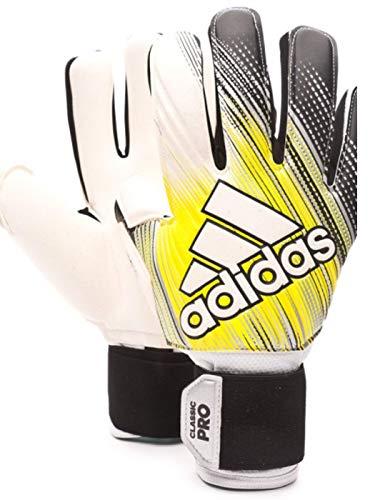 adidas Herren Classic Pro Torwarthandschuhe, Black/Solar Yellow/White, 10.5