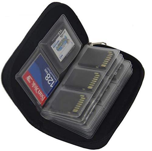 Gwill SD-Kartenetui 1 STK Schwarz 22 SDHC MMC CF Micro SD-Speicherkartenspeicherung Tragetasche Schutzhülle Halter Brieftasche - Reißverschluss Compact Brieftasche