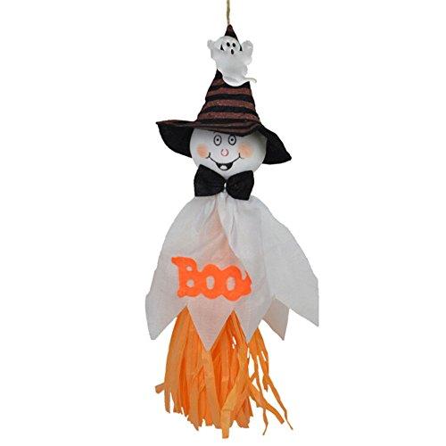 MAXGOODS 2 Stk Halloween Geist Hängende Gespenst Dekoration für Innen Außen Zuhause Party Ornament - Weiß