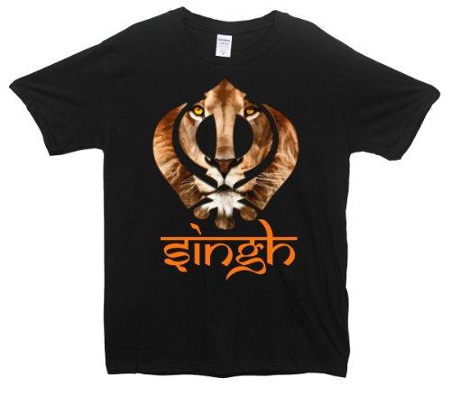 Singh Lion T-Shirt Schwarz