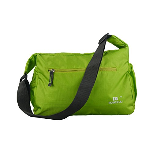 whx-folded-multifunctional-mummy-shoulder-bag-baby-waterproof-zipper-diaper-bag-green
