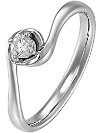 CHRIST Diamonds Damen-Ring 585er Weißgold 1 Diamant ca. 0,15 ct. 58, weißgold