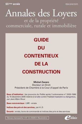Guide du contentieux de la construction