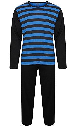 Location Herren Schlafanzug Gr. Large, Black / Blue Stripes