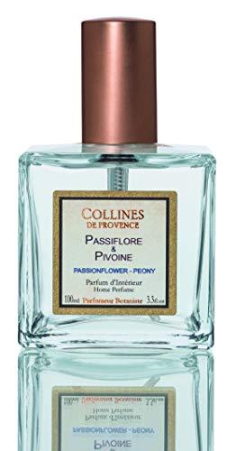 Collines de Provence Parfum d'Intérieur 100ml Passiflore-Pivoine Floral Fruité boisé, Transparent 5,5cm x 5,5cm x 9,5cm