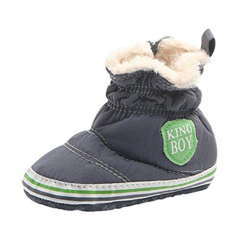 df0c2571e2e5d Bebe Garcon HIver Chaussure Fourrure Chausson Haut Snow Boots HIver Premier  Pas (11cm