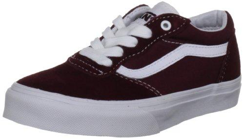 Vans Milton, Chaussures de Sport Unisexe-Enfant Sang de bœuf/blanc