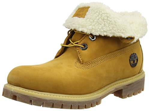 Timberland Roll Top_roll Top_roll Top F/f Af, Bottes mi-hauteur avec doublure chaude homme Marron - Braun (Wheat)