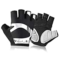 Aitravel shock-absorbing Half Finger Non-Slip Cycling gloves for bicycle riding