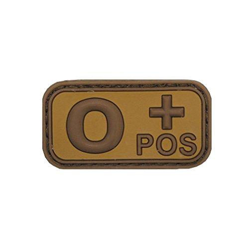 Copytec 0 POS Patch 3D Rubber Emblem Blutgruppe Null Plus Aufnäher Klett Uniform Einsatz Bundeswehr Army Tropen ISAF Desert Tarn 5x2,5cm #20477