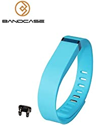 Recambio Bandcase tamaño grande y pequeño tamaño pulsera con broche Fitbit Flex de actividad y sueño rastreador (Tracker no incluir)) (azul, grande)