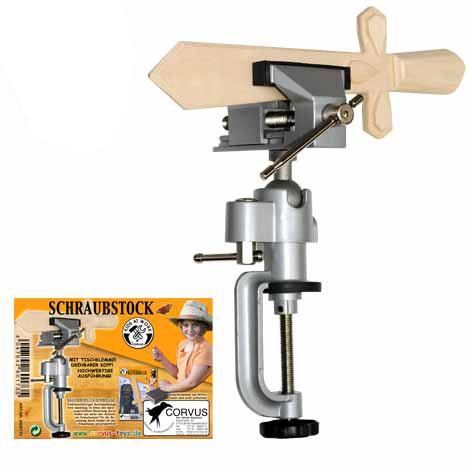 CORVUS 600173 - Kids at Work Schraubstock drehbar, Verschiedene Spielwaren