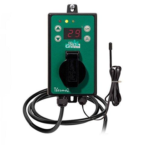 Bio Green Digital-Thermostat, grün,  mit Sommer/Winter funktion IP X4 spritzwassergeschützt Gewächshaus-ventilator Thermostat