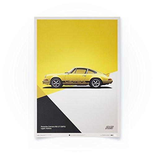 Automobilist Porsche 911 RS - Gelb - Einzigartiges Design, Limitierte Auflage Poster - Standard Poster Format 50 x 70 cm