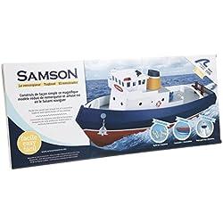 Maqueta de barco en madera Construye y navega: Remolcador SAMSON