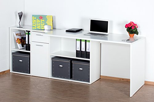 ricoo winkelkombination schreibtisch weiss arbeitstisch computer tische wm081w office table. Black Bedroom Furniture Sets. Home Design Ideas