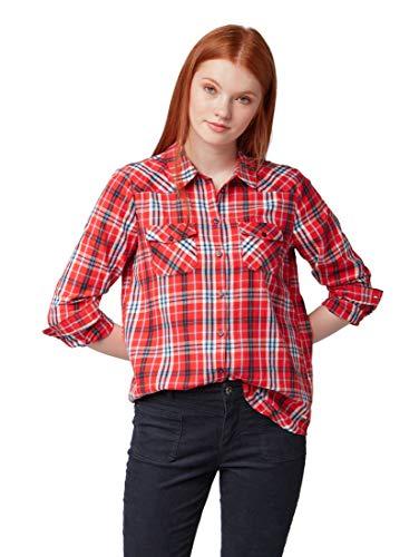 TOM TAILOR Denim für Frauen Blusen, Shirts & Hemden Kariertes Hemd Red Check, L