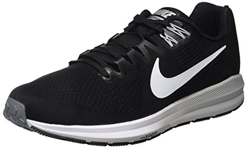 Nike Air Zoom Structure 21, Zapatillas de Entrenamiento para Hombre, Negro (Black/White-Wolf Cool Grey 001), 43 EU