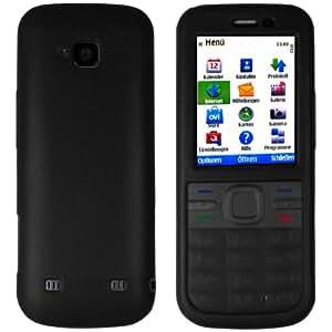 mumbi Silicon Case Nokia C5 C5-00 Schutzhülle Tasche - schwarz