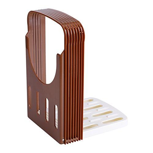 Bambus Brotschneidehilfe - Brotschneide Manuell für Selbstgemachtes Brot, Toast, Laib Kuchen - Klappbar Slicer Brotschneider mit Brett und Messer Schneidehilfe