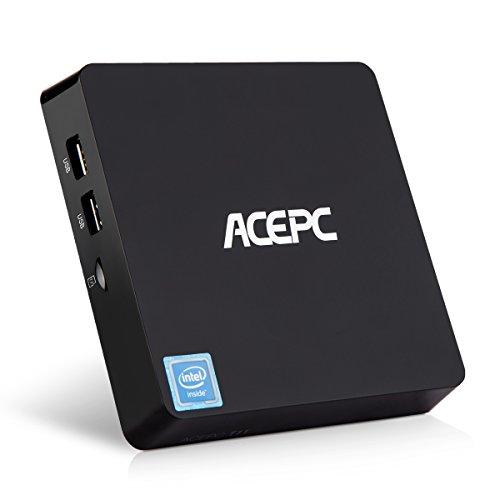 Mini PC Windows 10 Intel Atom x5-Z8350 Processor 4GB Ram 32GB EMMC Support 2.5 Inch SATA SSD/HDMI & VGA Dual Output/Dual Band Wi-Fi/Bluetooth 4.0/4K Micro Desktop Computer