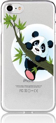 Blitz® BÄR Schutz Hülle Transparent TPU Cartoon Comic iPhone Cute Panda M10 iPhone 7PLUS / 8PLUS Panda springt M4