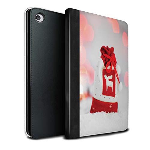 �lle/Case/Brieftasche für Apple iPad Mini 4 Tablet/Rentier Strumpf Muster/Weihnachts Festliche Jahreszeit Kollektion ()
