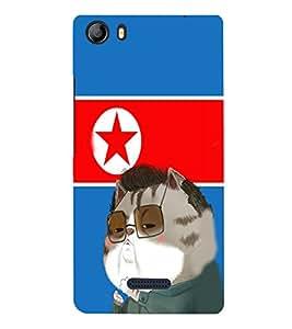 EPICCASE Kim jong cat Mobile Back Case Cover For Micromax Canvas 5 E481 (Designer Case)