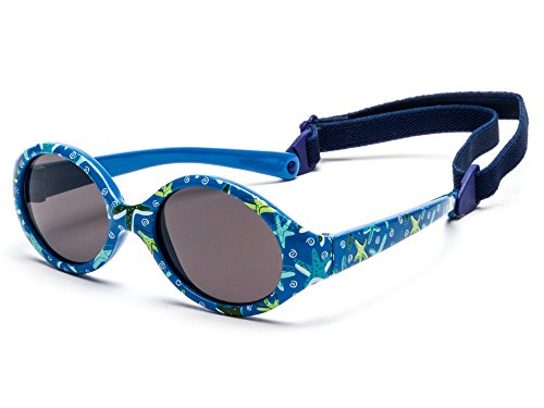 Kiddus Baby Comfort Sonnenbrillen für Baby Kinder Jungen und Mädchen. Alter 6 Monate bis 2 Jahre. Sehr Komfortabel und Sicher. 100% UV-Schutz. Mit Verstellbarem Gummiband