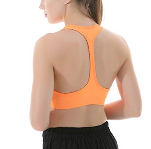 Donna Sport Bras All'aperto Yoga Fitness Gilet Intimo Senza Soluzione Di Continuità Semplicità Comfort Reggiseno Pink