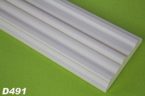 2 Meter Türumrandung Körper Flachprofil Flachleiste Profil stoßfest 95x21mm, D491