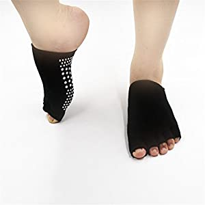 BSD Fußabdeckung Yoga Socken Halbfinger-Sportsocken Fünfzehensocken für Frauen