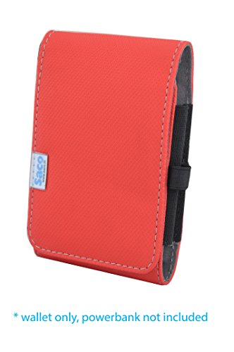 Saco Pouch for Xiaomi Power Bank 10400 Mah - Red  available at amazon for Rs.180
