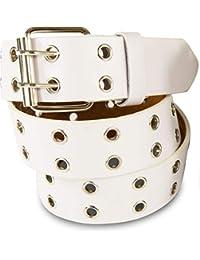 9402b09a6a783a SCAMODA Doppelloch Nietengürtel mit echtem Leder für Damen und Herren,  Breite ca.