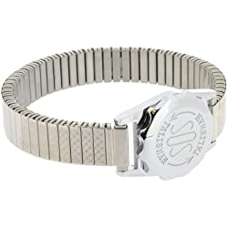 Chrome Plated SOS Talisman Watch Style - 12mm Ladies Expandable