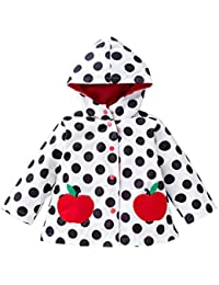 Baby abrigo con capucha mariposa Imprimir Chica del viento Chubasquero Outwear Chaqueta 2–6years