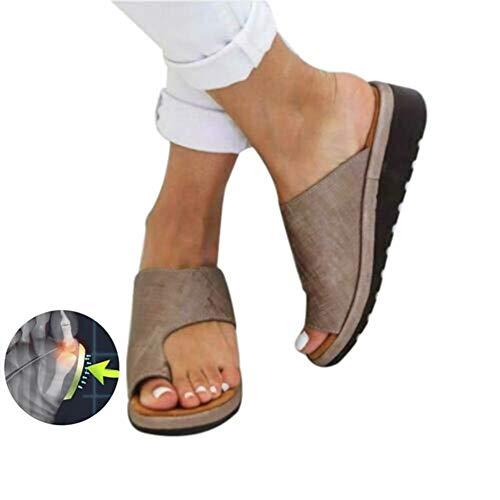 e7f1691d4a032 TQMK Frauen Orthopädische Bunion Corrector PU Leder Schuhe Outdoor Comfy  Plattform Sohle Casual Weichen Fuß Kappe Richtige Begradigen ...