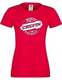 ShirtInStyle Lady T-Shirt Beste CHEFIN der Welt, StampStyle viele Farben, Größe XS-XXL