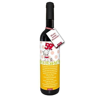 Wein-60Geburtstag-trockener-Rotwein-aus-Spanien100-Tempranillo-Valdepenas-2015-Einladung-STEINBECK-Geschenk-Mitbringsel-Happy-Birthday-Mann-Frau-sechzig