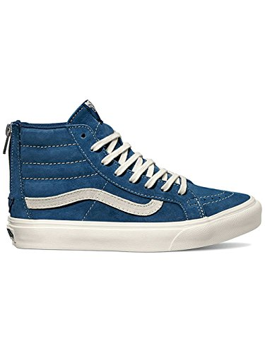 Vans Sk8-Hi, Sneakers Hautes Mixte Adulte Blau (Scotchgard obsidian/blanc de blanc)