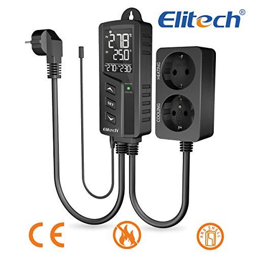 220 V Elitech STC-1000Pro Digitaler Temperaturregler mit Sensor schwarz Doppelrelais