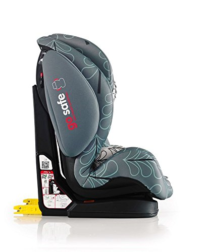 Cosatto Hug Isofix Car Seat Group 123, 9-36 kg, Fjord Cosatto Suitable from 9 kg-36 kg (9 months - 12 years approximatelyimately), Hug ISOFIX is an investment; it fits forward-facing in most cars with standard ISOFIX connectors and top tether anchor point The exclusive Five Point Plus Anti-Escape system deters determined wrigglers and diminishes driver distraction; it features extra-cushioned side impact protection for in-car security Impact protection for in-car security Hug ISOFIX has fabrics, a height-adjustable headrest and reclining padded seat for on-board comfort, plus easy-clean pop-off covers and liner to help you out 3