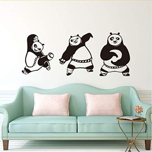 mmwin Kreative Cartoon Kung Fu Panda Wandaufkleber Wohnzimmer Schlafzimmer Hintergrund Home Decor Vinyl Aufkleber Kinderzimmer Wandbild