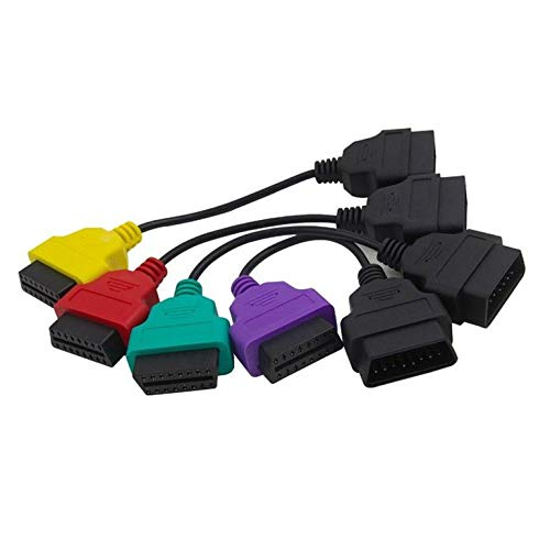CremeBruluee 4pcs OBD2 Cables Alfa Fiat ECU exploración